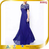 Ruffle Ball Gown Floor Length Evening Dress For Bride Dress