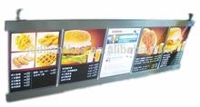 ultrathin high brightness advertising display board and led restaurant menu light box