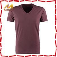 100% combed cotton v neck wholesale t shirts/basic & plain fancy v neck wholesale t shirts for men