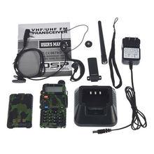 UV-5R Camouflage Interphone Two Way Radio Long Distance Hands Free Walkie Talkie Best Range