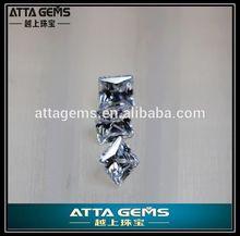 get princess cut white zirconia gems free sample