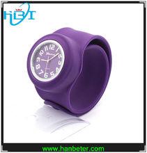 2014Hot selling pantone color waterproof japenese movt interchangeable slap wrist watches chinese numbers