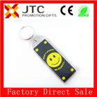 JTC PROMOTIONAL GIFTS custom logo engraved acrylic keychain-0008/smile logo square custom acrylic keychain,
