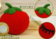 2014 new design tomato shape pillow & baby plush toy food toys tomato & red tomato plush toy for kid