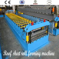 colorful galvanized steel roofing sheet roll forming machine