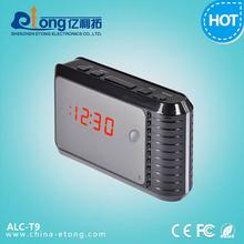 Wifi P2P Wireless 720P HD Small Alarm Clock Hidden Camera support 32GB memory