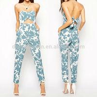 Wholesale oem fashion ladies summer jumpsuits for women 2014
