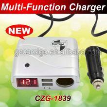 Guangdong factory circle 5v 1000 mA 2.1A output base price 5v 2a car charger