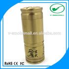 26650 FGG brass / stainless steel ecig mechanical mod starter kit 510 atomizer connector / FGG mod ecig e-firefly battery