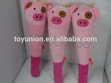 MABZ-653 plush exercise plush pig / soft stick for body massage