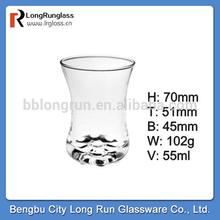 LongRun 2oz fancy promotion children use milk glass&water drinking glass cup&fruits drinks glass tumbler