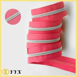 popular in Japan market #5 large resin nylon zipper for garment