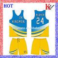 frais et sec vente chaude ekz9300 sport basket uniformes uniforme bleu