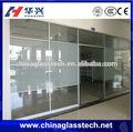 tamanho personalizado e moderno estilo de porta de geladeira clara vidro temperado