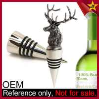 High Quality Personalized Artistic Clear Custom Glass Wine Stopper