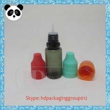 10ml transparent black 10ml pet eye dropper bottles plastic container black plastic container with lid