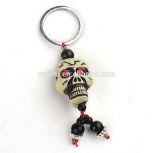S071116 Bulk Price Halloween Skull Key Ring Chain 36x26mm Skull Pendant Festival Key Chain Decoration