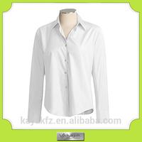 custom white cotton long shirts trousers for women