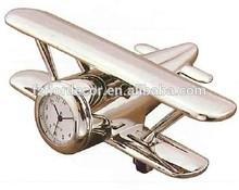 promotional alarm clock airplane shape table clock decorative alloy airplane shape alarm clock