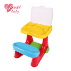 Flexible baby furniture kids study desk and chair