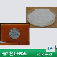 LGB supplier white chemical powder kojic acid,soap making ingredients