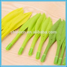 China Manufacture Custom Logo Giveaway Gift Cute Soft PVC Plastic Green Big Leaf Water Ball-point Pen