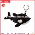 cute baleia assassina fuzzy sutffed pelúcia chaveiro