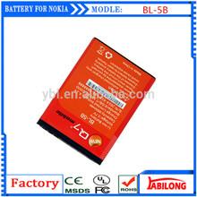 BL-5B 890mAh li ion battery for NOKIA 5300 5320 6120c 7360 6120ci 3220 3230 5070 5140 5140i 5200 5208 5320XM 5500 6020 6021 6060