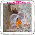venta al por mayor de moda de punto a mano zapatos de bebé bebé punto de sandalia
