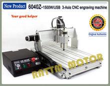 New product!!! 4-Axis 6040Z 1500W USB Mahc3 CNC engraving machine 220VAC