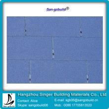 blue architecture shingle for bitumen fiberglass roof tile