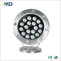 18W led underwater lamp DC12V IP68 stainless steel wooden garden house from poland