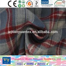 fashion shirt garment yarn dyed flannel checks fabric cheap goods from china changzhou