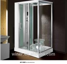 Winer Europe designed frameless shower enclosures