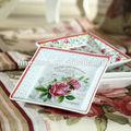 4.75 polegadas elegante fina porcelana de osso novo pequeno prato quadrado de primavera em paris