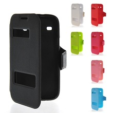 New View Leather Side Flip Wallet Cover Case For Samsung Galaxy Core I8260 I8262
