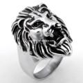 leone logo sollevato anelli in acciaio inox gioielli personalizzati