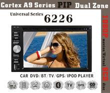 6226 6.2inch HD 1080P BT TV GPS IPOD touch screen car dvd player
