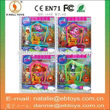Promotional littlest pet shop toys model with pets