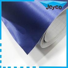 JEYCO VINYLFILM 1.52*30m Best quality brushed aluminium BLUE color auto wraps folie air bubble free