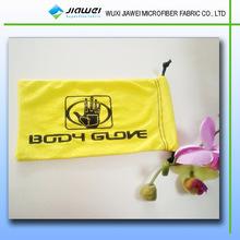 2014wuxi microfiber drawstring design pouch