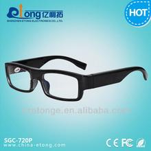 High Resolution pinhole glasses camera 8GB memory built-in long time recording hidden camera ,IP camera for computer