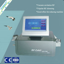 Easy to perform Big color touch screen tripolar rf cavitation body shaping beauty system