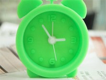 Cute soft unbreakable silicone alarm clock