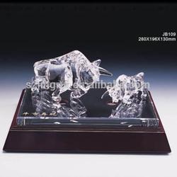 Best k9 crystal bull souvenir miniature glass figurines