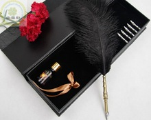 Christmas Quill Feather Pens/Colorful Feather Fountain Pen Gift Set