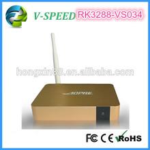 Dvb-T2 Antenna Rk3288 Android 4.4 Vspeed 1080P Hdmi Arabic Iptv Box Hd Media Player