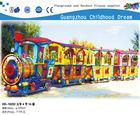 (HD-10202 )Cartoon Baby Face 8 Seats Fiberglass Train with Tracks Train Ride, modern amusement electric tourist train