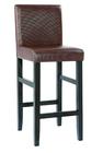 Cheap wooden PU leather bar stool high chair