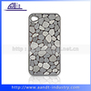 New 3D Stone Design Pu Skin Printing Mobile Phone Hard Plastic Covers For iPhone 4